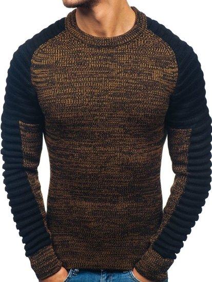 Sweter męski czarno-brązowy Denley 157