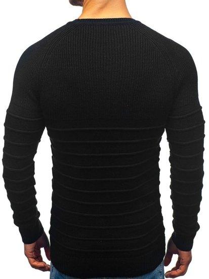 Sweter męski czarny Denley 161