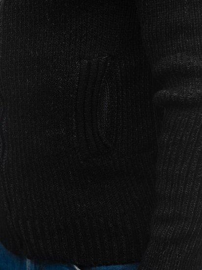 Sweter męski czarny Denley 20008
