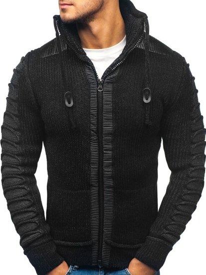 Sweter męski czarny Denley 20010
