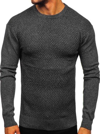 Sweter męski czarny Denley 8512