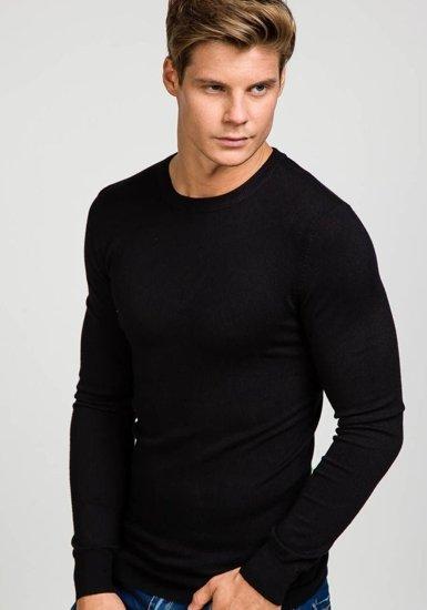 Sweter męski czarny Denley 9001