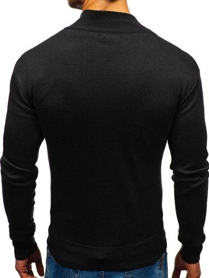 Sweter męski czarny Denley BM6043