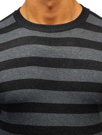 Sweter męski czarny Denley BM6129