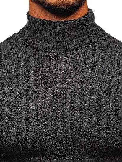 Sweter męski golf antracytowy Denley 2002
