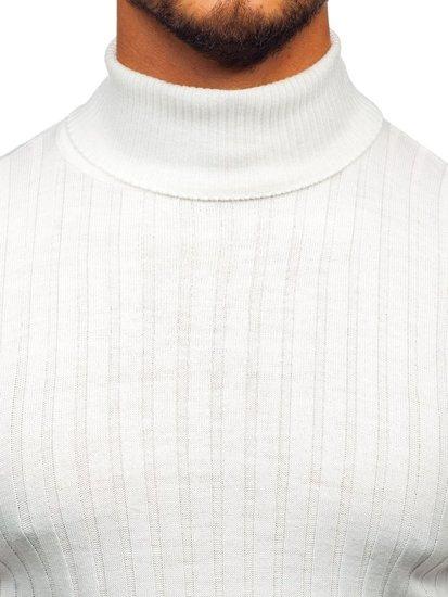 Sweter męski golf biały Denley 2002