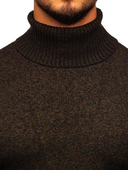 Sweter męski golf brązowy Denley H1933