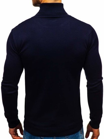 Sweter męski golf granatowy Denley 2400