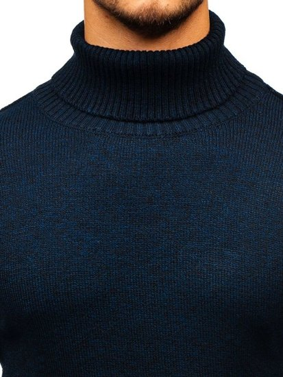 Sweter męski golf granatowy Denley H1800
