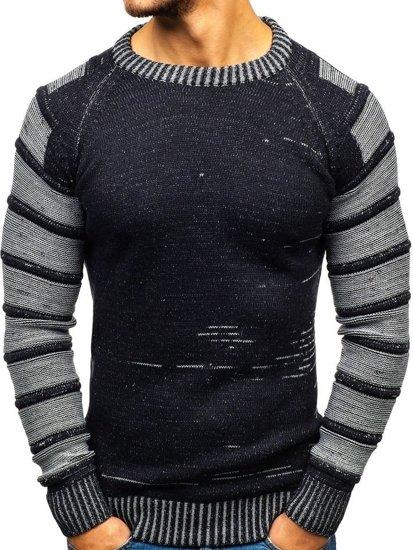 Sweter męski granatowy Denley 6007