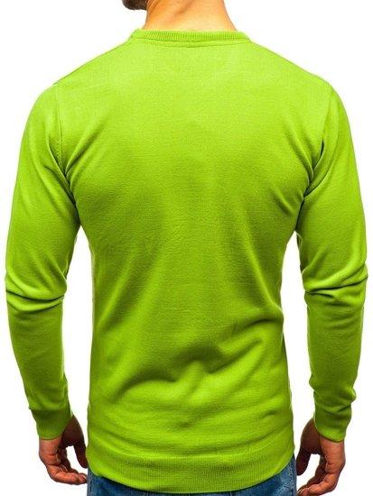 Sweter męski jasnozielony Denley 201