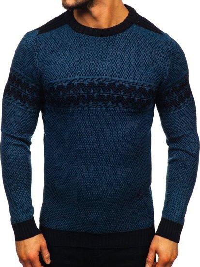 Sweter męski niebieski Denley 1806