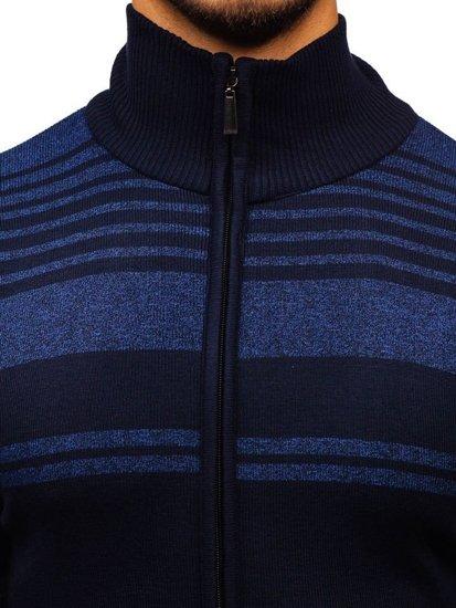 Sweter męski rozpinany atramentowy Denley BM6132