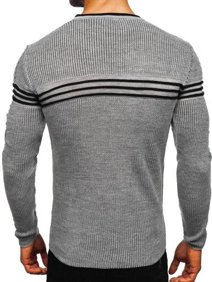 Sweter męski szary Denley 0001