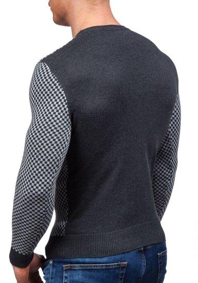Sweter męski szary Denley 7006