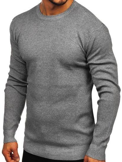 Sweter męski szary Denley 8364