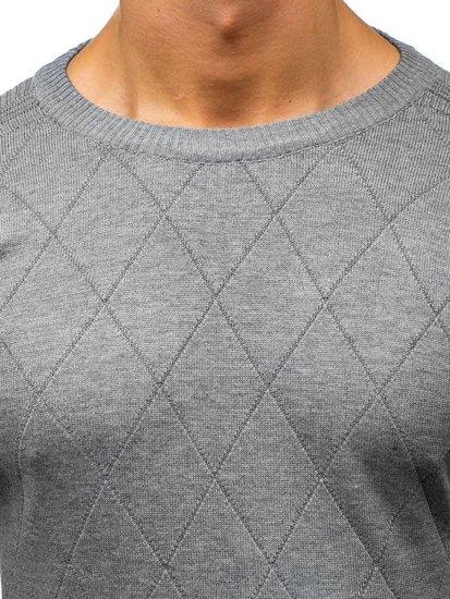 Sweter męski szary Denley H1827