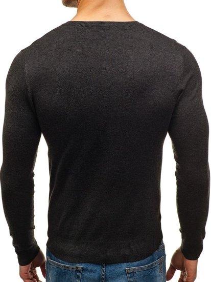 Sweter męski w serek antracytowy Denley 003
