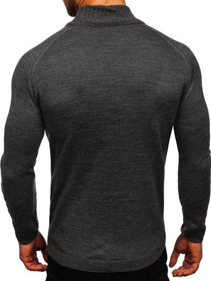 Szary sweter męski golf Denley 1008