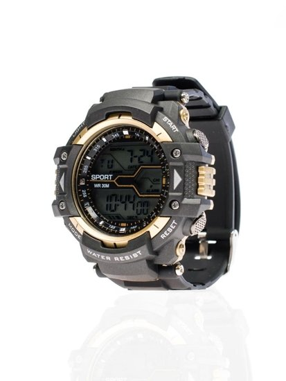 Zegarek męski na rękę czarno-złoty Denley 8338