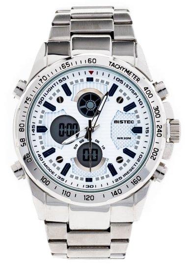 Zegarek męski na rękę stalowy biały Denley 210