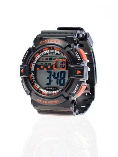 Zegarek na rękę czarno-pomarańczowy Denley 9003