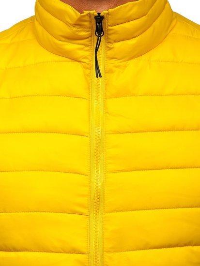 Żółta pikowana kamizelka męska Denley HDL88001