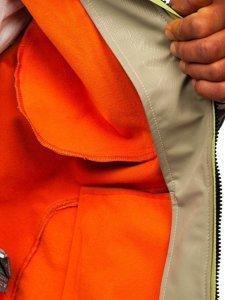 Beżowa kurtka męska softshell Denley 2251