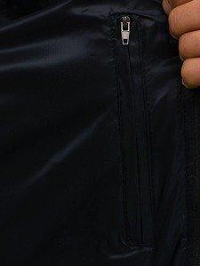 Bezrękawnik męski pikowany z kapturem granatowy Denley 1001