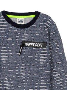 Bluza chłopięca bez kaptura granatowa Denley HB1963