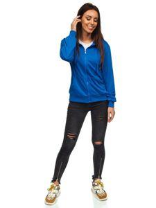 Bluza damska z kapturem błękitna Denley WB1005