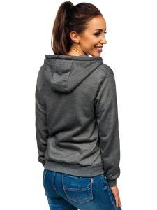 Bluza damska z kapturem grafitowa Denley WB1005