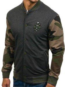 Bluza męska bez kaptura antracytowa Denley 0766