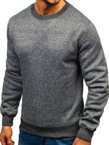 Bluza męska bez kaptura antracytowa Denley TC21