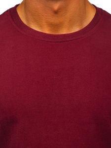 Bluza męska bez kaptura bordowa Bolf 171715