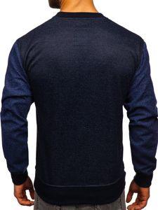 Bluza męska bez kaptura granatowa Denley 3672