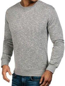 Bluza męska bez kaptura jasnoszara Denley 7036