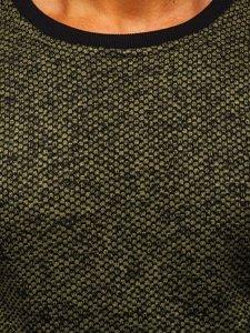 Bluza męska bez kaptura khaki Denley 2001-3