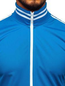 Bluza męska bez kaptura rozpinana retro style niebieska Bolf 11113
