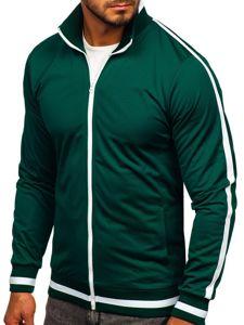 Bluza męska bez kaptura rozpinana retro style zielona Bolf 2126