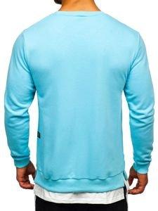 Bluza męska bez kaptura z nadrukiem błękitna Bolf 11114
