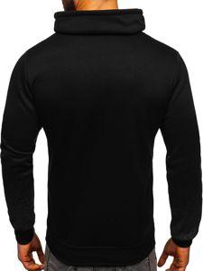 Bluza męska bez kaptura z nadrukiem czarna Denley HY524
