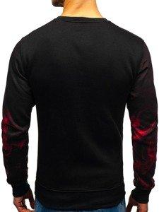 Bluza męska bez kaptura z nadrukiem czerwona Denley DD589