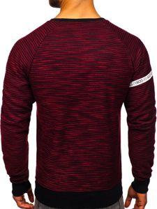 Bluza męska bez kaptura z nadrukiem czerwona Denley DD713