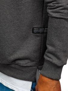 Bluza męska bez kaptura z nadrukiem grafitowa Bolf 11116