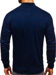 Bluza męska bez kaptura z nadrukiem granatowa Denley 3805