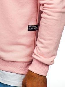 Bluza męska bez kaptura z nadrukiem różowa Bolf 11114
