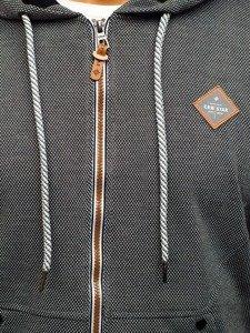 Bluza męska z kapturem antracytowa Denley 3610