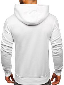 Bluza męska z kapturem biała Denley 2009