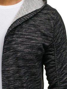 Bluza męska z kapturem czarna Bolf 9113